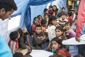 Blog tijdelijke scholen in Nepal