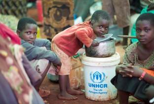 Vluchtelingenkinderen uit Burundi