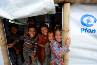 Sindhupalchok district was one of the most heavily devastated areas, with nearly 3,000 deaths following the twin earthquakes. Plan International has established numerous Child Friendly Spaces (CFS) in affected areas, as venues for children to take part in fun activities that support their recovery and allow them to process their experiences through songs, dance and play.  With more than 26 CFS in Sindupalchok district, Plan International has provided support to nearly 3,700 children in the area.