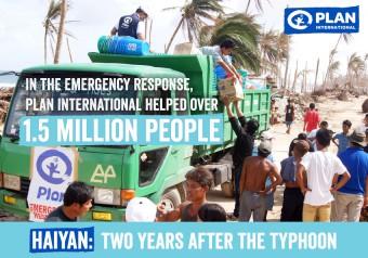 Pictogram: lan bereikte 1,2 miljoen mensen met noodhulp na Haiyan
