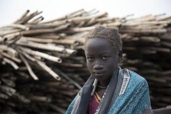 Meisje uit Zuid-Sudan
