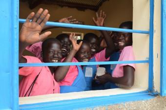 Schoolkinderen in Zuid-Sudan