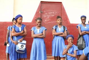 Girls at school in Moyamba