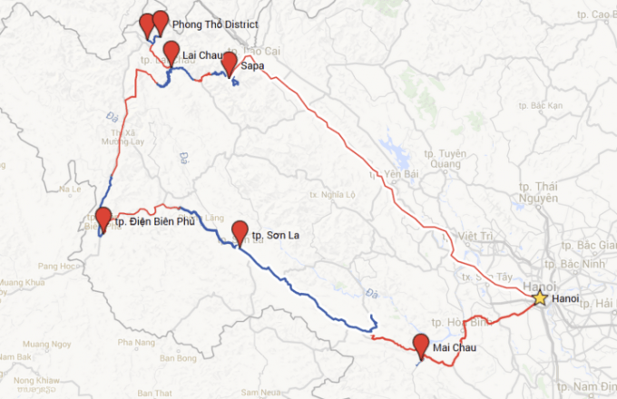 route Cycle for Plan vietnam